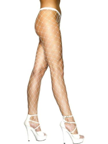 Diamond Net Tights - White (Smiffys 26883)